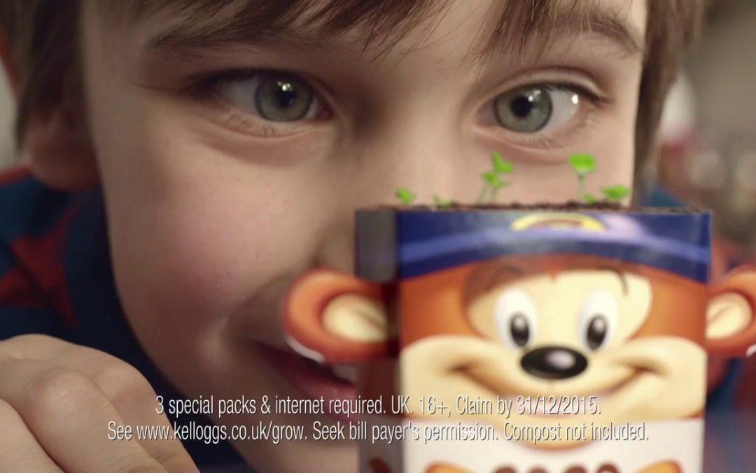 Kellogg's advert featuring timelapse