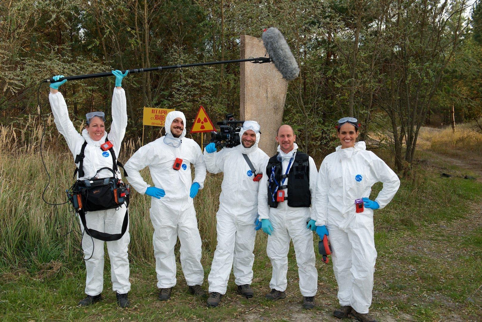 Filming in Chernobyl