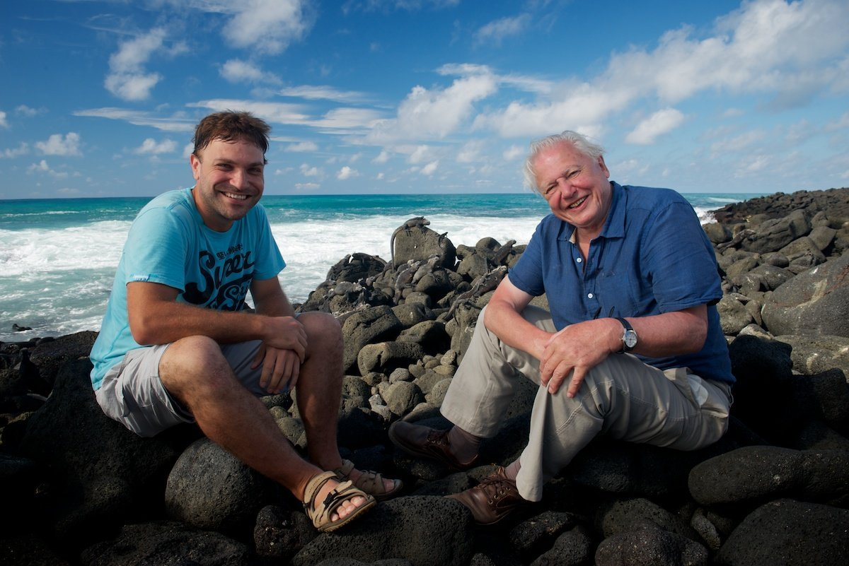 David Attenborough and Robert Hollingworth