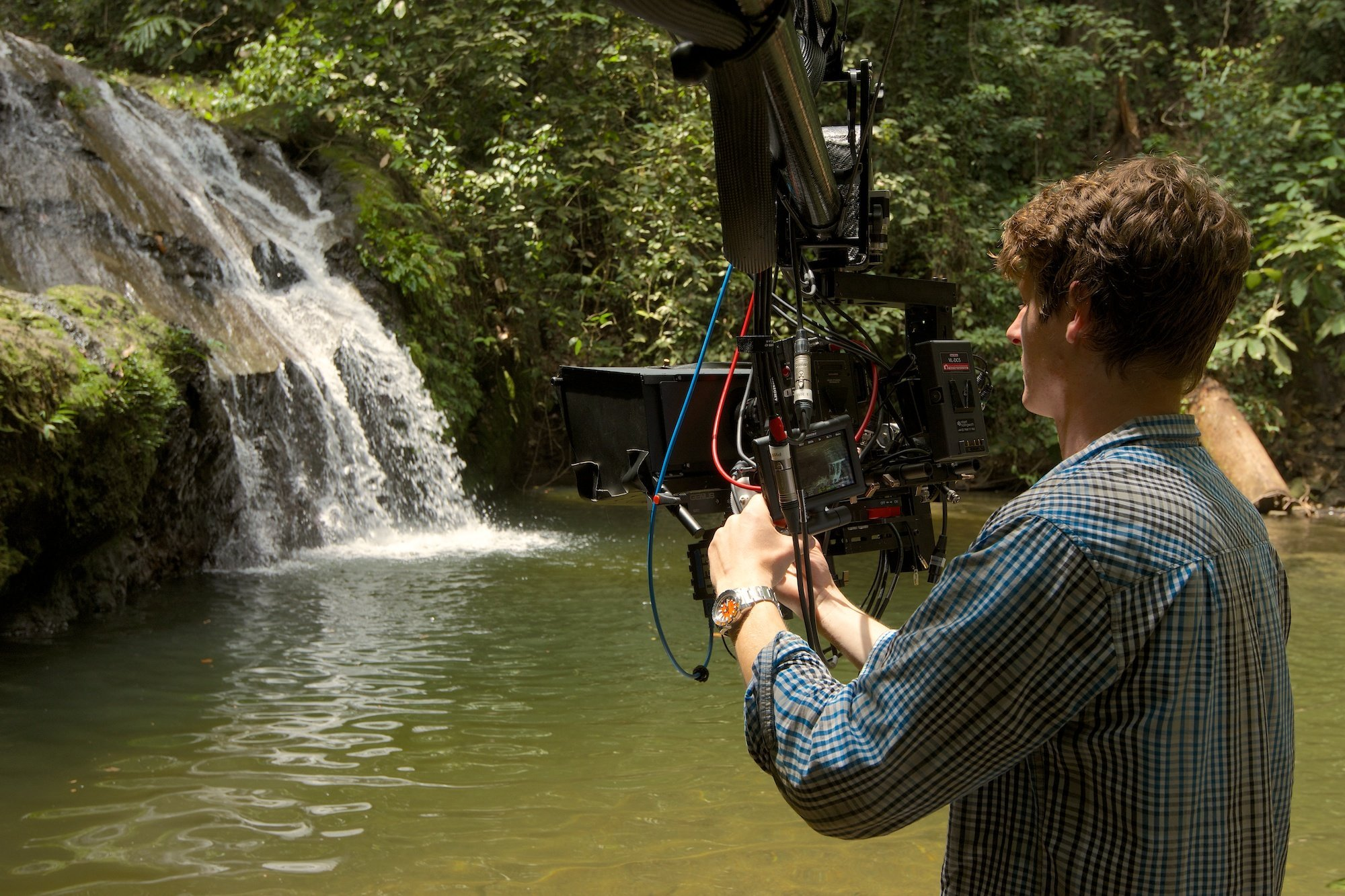 Filming in Borneo for Conquest of the Skies (Sky 3D)