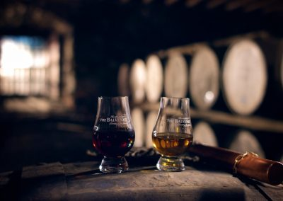 The Balvenie Whisky commercial shoot in Dufftown, Scotland