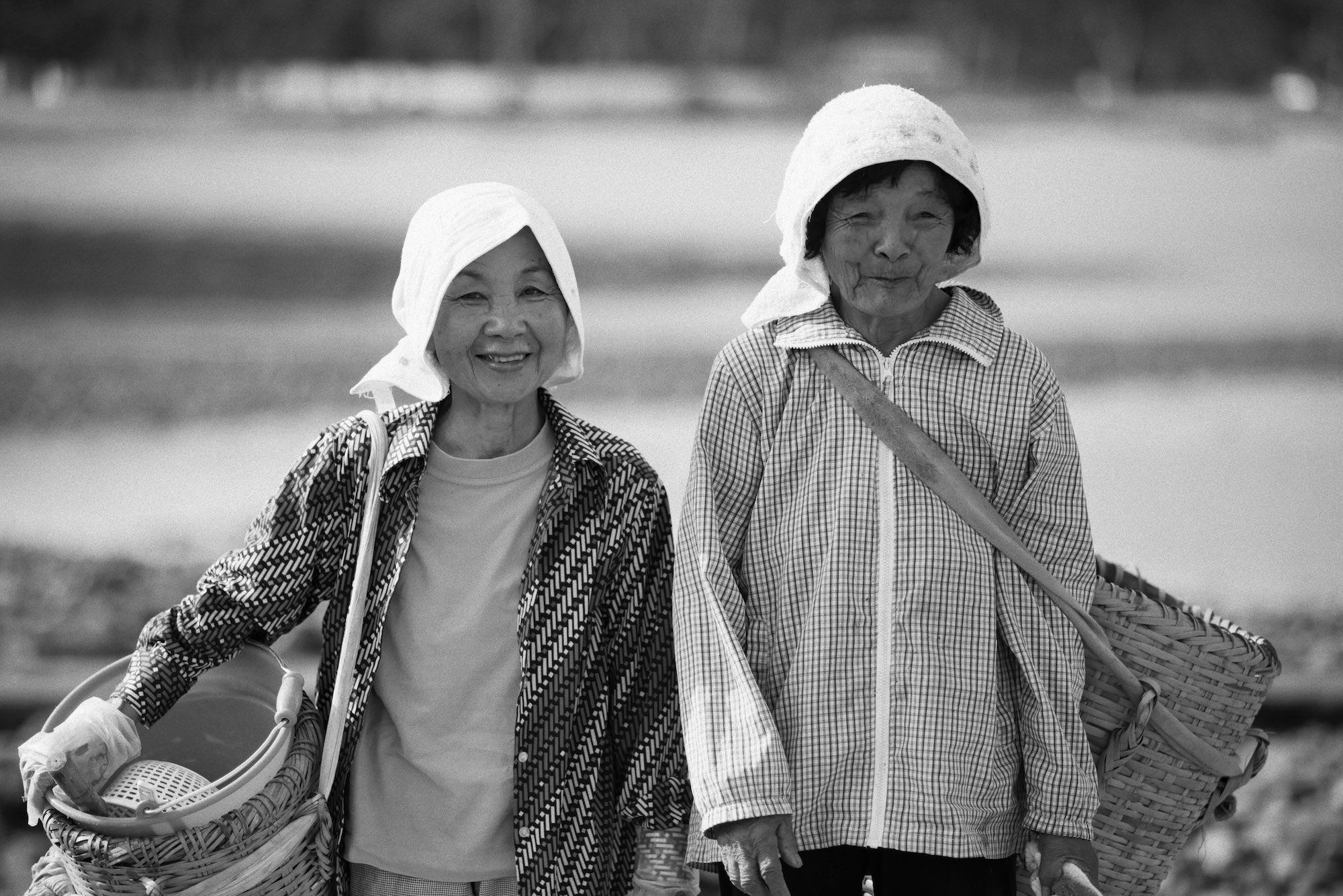 Fisher ladies in Okinawa, Japan.