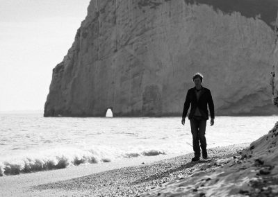 Brian Cox at Lulworth Cove for Forces of Nature