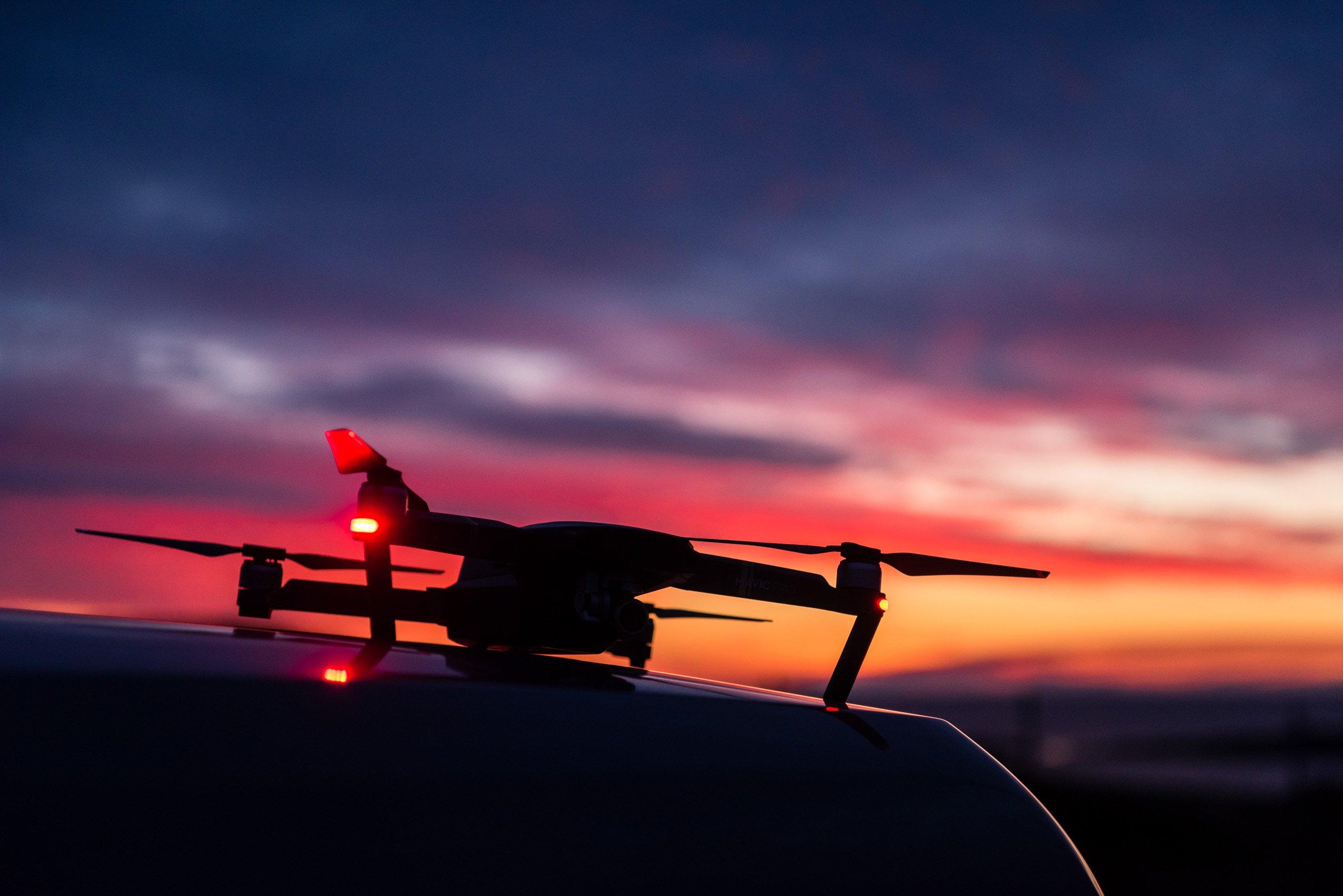 Drone pilot and cameraman Robert Hollingworth