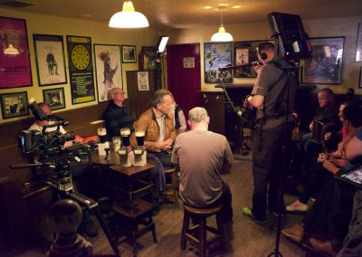Behind the scenes with Richard E Grant in Matt Maloy's pub