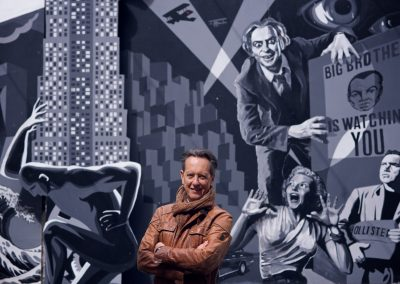Richard E Grant in Belfast for Tourism Ireland shoot